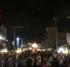 火祭り・人込み